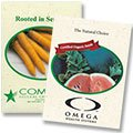 Printed Vegetable Seed Packets