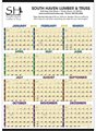 Single Page Calendars | 1 Page Yearly Calendars