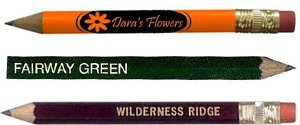 Personalized Golf Pencils | Golf Pencils with Erasers