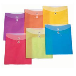 "Poly Envelopes, 10"" x 12"", Translucent"