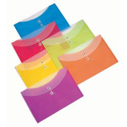 "Poly Envelopes, 13-1/4"" x 9"" Side Open, Translucent"