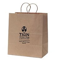 "100% Recycled Paper Shopping Bags, Natural Kraft, 10"" x 13"""