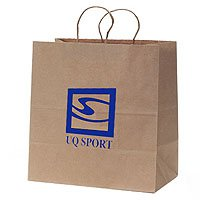 "100% Recycled Paper Shopping Bags, Natural Kraft, 16"" x 19-1/4"""