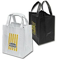 Reusable Shopping Bags, Non-Woven Poly, Big Thunder 13 x 15