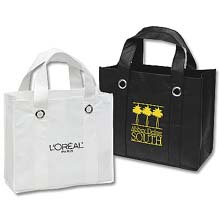 Reusable Shopping Bags, Non-Woven Poly, Silhouette, 13 x 11