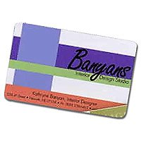 24 mil. Full Color Plastic Business Cards