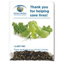 Clear Compostable Cellopane Mixed Herb Seed Packets