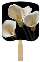 White Lilies Hand Fans