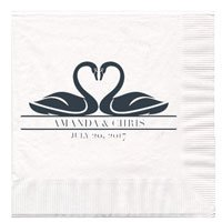 3-Ply White Wedding Luncheon Napkins