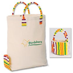 Reusable Shopping Bags, Cotton Canvas, Adorare, 11 x 15-1/2
