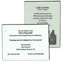 "Linen Baronial Cards, 5-1/2"" x 4-1/4"""