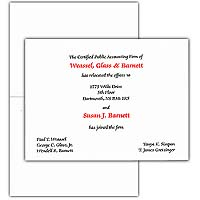"Vellum Embassy Folder Cards, 6-5/8"" x 5"""