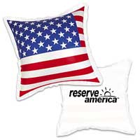 "Inflatables, USA Flag Pillow 20""x20"""
