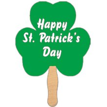 Shamrock Shaped Hand Fans