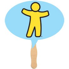 Thought Bubble Shaped Hand Fans