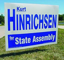 "Political Cardboard Yard Signs, Double-Sided, Frame Included, 16"" x 26"""