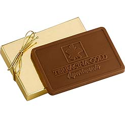 Rectangle Shaped Chocolate Bars, with Custom Mold Imprint, 3 oz. Kosher