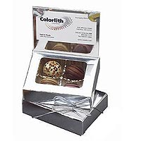 Chocolate Truffles, 4 Piece Business Card Box, Kosher