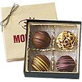 4 Piece Gift Box Chocolate Truffles, Kosher