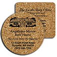 Cork Coasters, Round or Square, Low Minimum