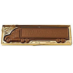 Chocolates, Custom Molded Truck Trailer, 1 lb., Kosher