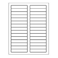 "Laser Labels, File Folder 3.43"" x 0.667"" Sheet"