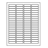 "Laser Labels, Return Address 1.75"" x 0.5""  Sheet"