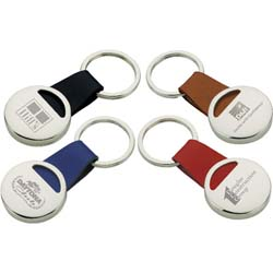 Metal Key Chains, Leather Strap, Tere Keyring