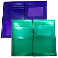 "Plastic Side Open Envelopes, 2"" Gusset & Business Card Holder 11-5/8"" x 9-3/4"""