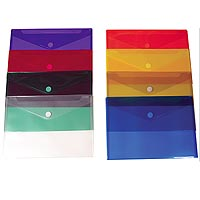 "Plastic Side Open Envelopes, Velcro Closure 13"" x 9-1/4"""