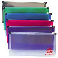"Plastic Mini Envelopes with Gusset, Zip Lock Closure 9-7/8"" x 5"""