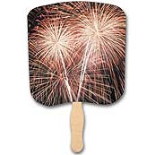Fireworks Hand Fans, Full Color