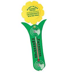 Flower Recycled Thermometers