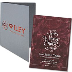 "Foil Stamped  Welcome Folders, Right Pocket, 5-7/8"" x 9"""