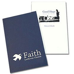 "Foil Stamped Welcome Folders, Two Pocket, 5-7/8"" x 9"""