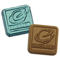Foiled Custom Molded Chocolate Squares, .25 oz.