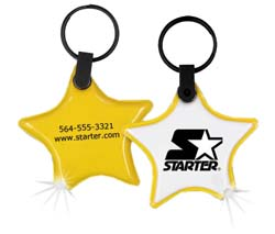 Lighted Key Chains, Star Flexi-Soft Key Ring Light