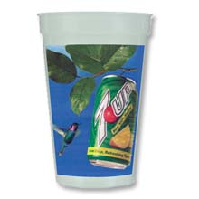 Plastic Stadium Cups, BPA Free, Full Color Process, Nite-Glow, Smooth 17 oz.
