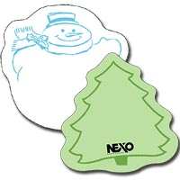Post-it® Custom Printed Die-Cut Notes, 25 Sheets, Large Holiday-Shaped