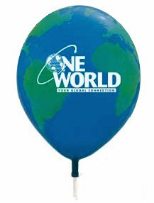 "11"" Globe Qualatex® Balloons"