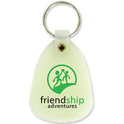 Key Chains, Glow in the Dark Plastic Tuff Tag