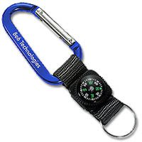 Key Chains, 70mm Carabiner with Compass