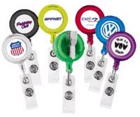 Retractable Badge Holders, Round Shaped