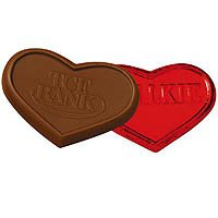 Chocolate Hearts, Custom Molded 1 oz., Kosher
