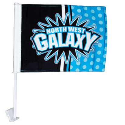 Economy 1-Ply Poly Car Flags