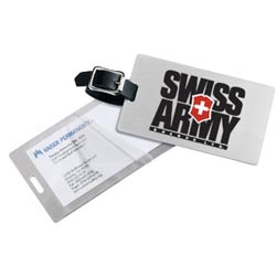 Brushed Aluminum Kwik-Seal®Luggage Tags