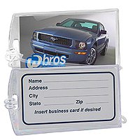Executive Clear Plastic Luggage Tags