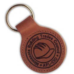 Leather Key Chains, Top Grain Round
