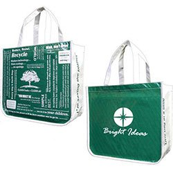 "16"" x 14"" Recycled PET Shopping Bags with Eco Message"