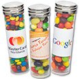 Large Silver Top Plastic Tubes with Candy Filling